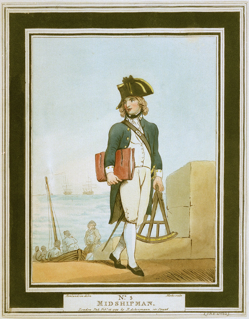 Detail of Midshipman by Thomas Rowlandson
