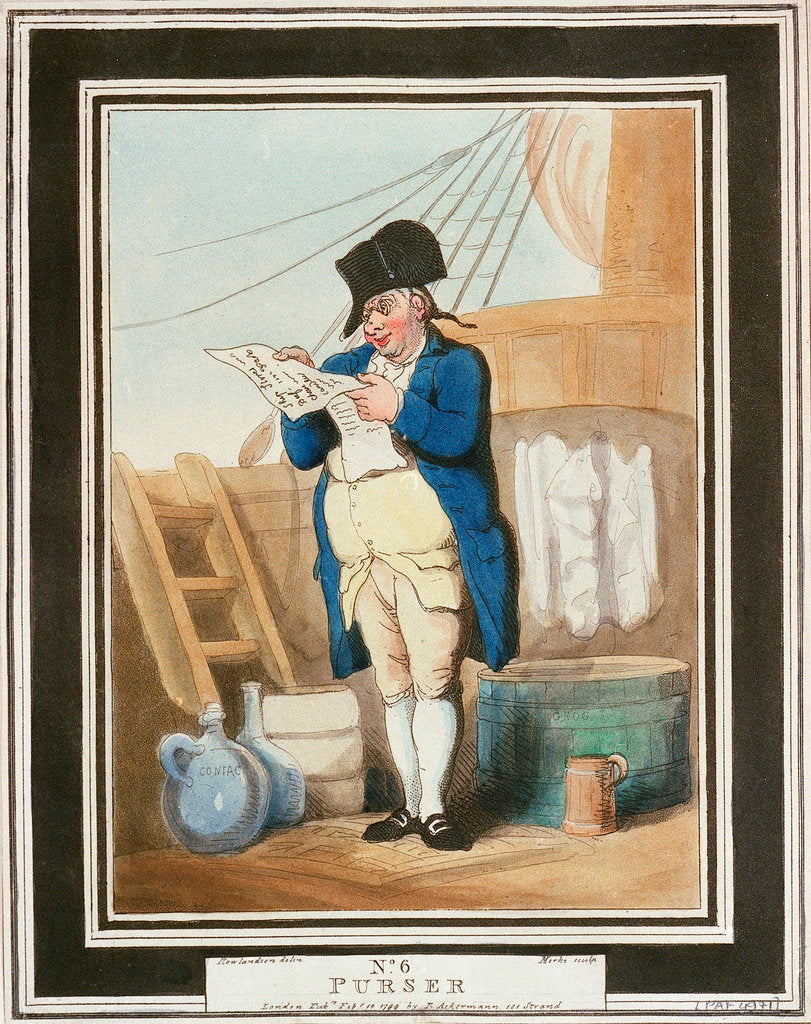 Detail of Purser by Thomas Rowlandson