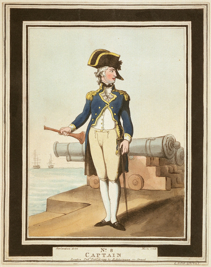 Detail of Captain: no. 8 in series by Thomas Rowlandson