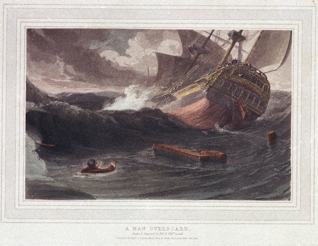 A man overboard by Thomas Daniell