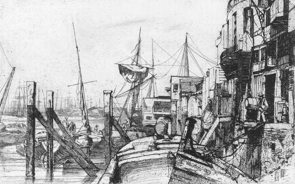 Detail of Limehouse by James Abbott McNeill Whistler