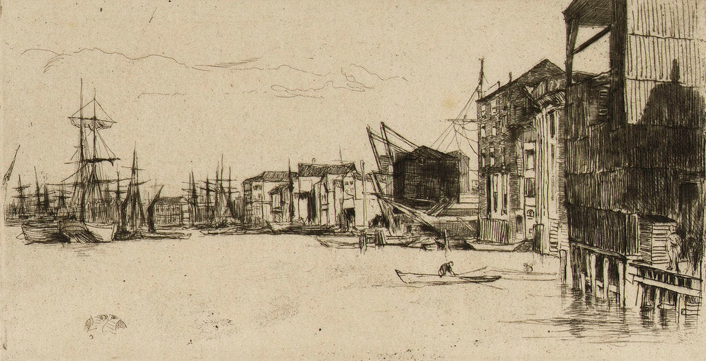 Detail of Free Trade Wharf by James Abbott McNeill Whistler