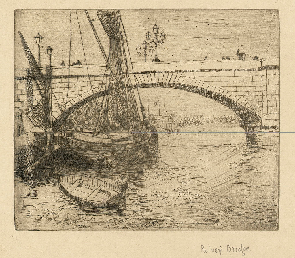 Detail of Putney Bridge by Walter Greaves