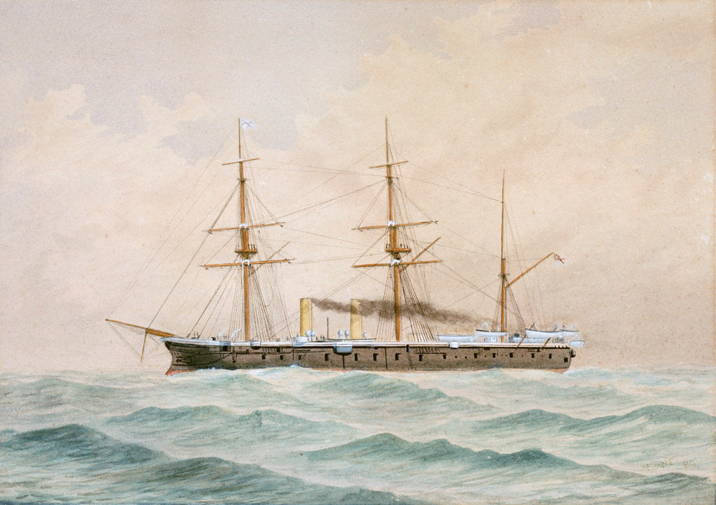 Detail of HMS 'Bellerophon'  (1865) by Fred T. Jane