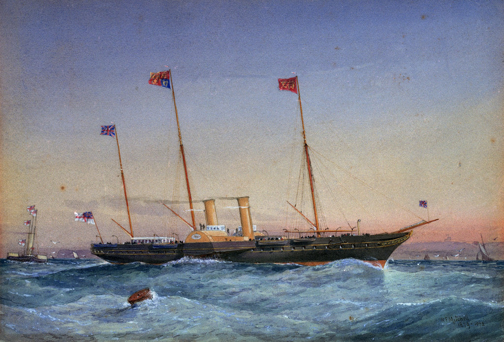 Detail of The yacht 'Victoria & Albert' by William Frederick Mitchell