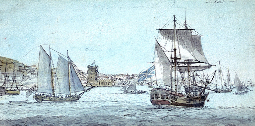 Detail of View of Belem Town, 1773 by Charles Gore