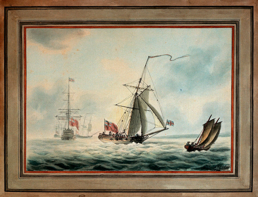 An English privateer by J. Richbell