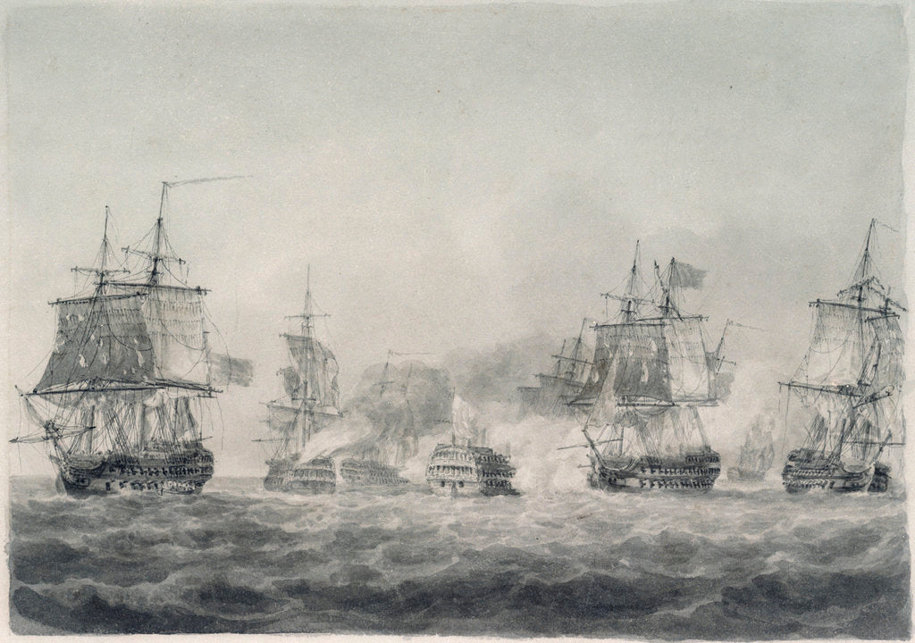 Detail of Battle of Camperdown, 11 October 1797 by Nicholas Pocock