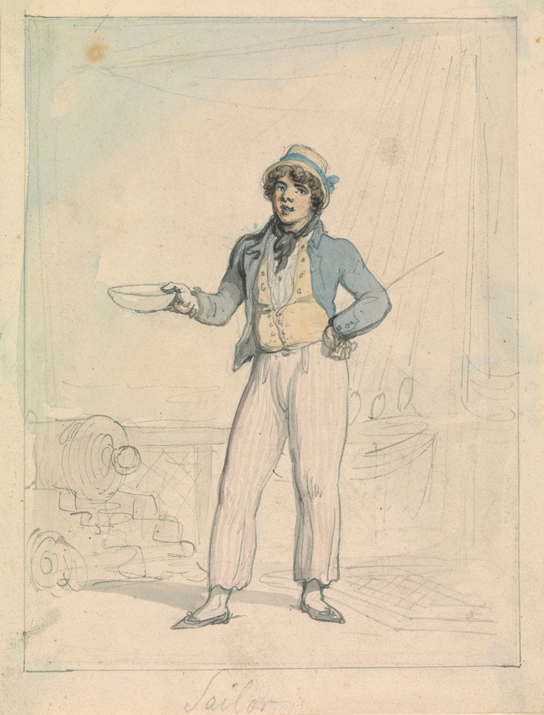 Detail of Sailor by Thomas Rowlandson
