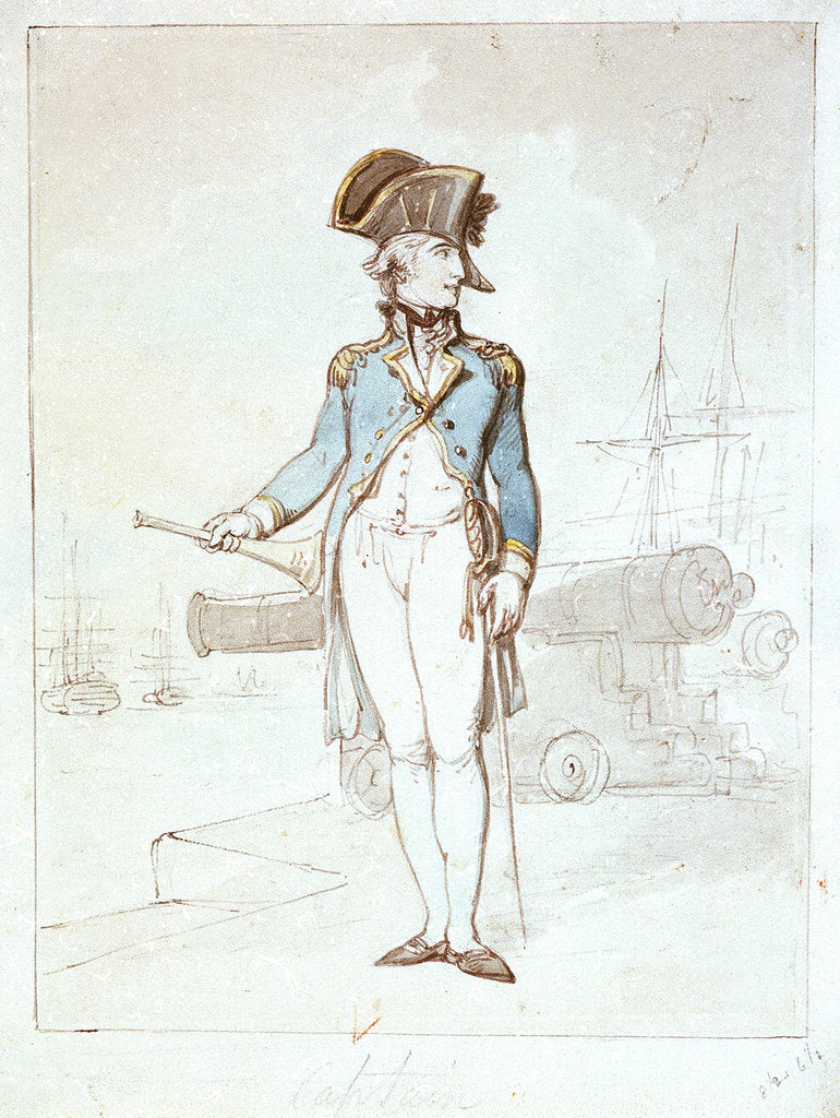 Detail of Captain by Thomas Rowlandson