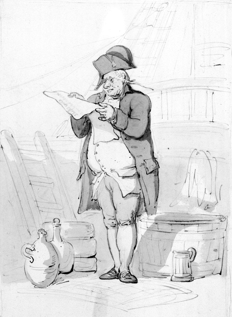 Detail of The Purser by Thomas Rowlandson