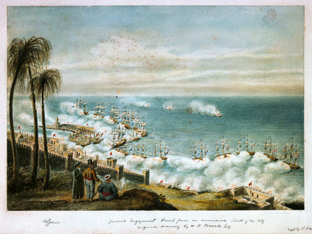 Detail of Bombardment of Algiers, 1816 by William Innes Pocock