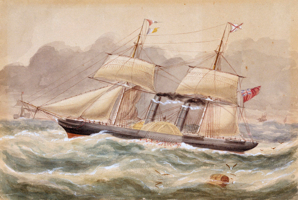 Detail of 'La Plata', Royal Mail steamer, 1852 by unknown