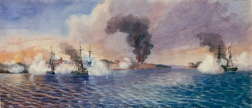 Detail of Bombardment of Bomarsund, August 1854 by Edward Hodges Cree