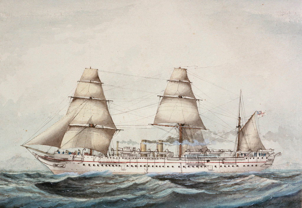 Detail of Troopship 'Orontes' (1862) by unknown