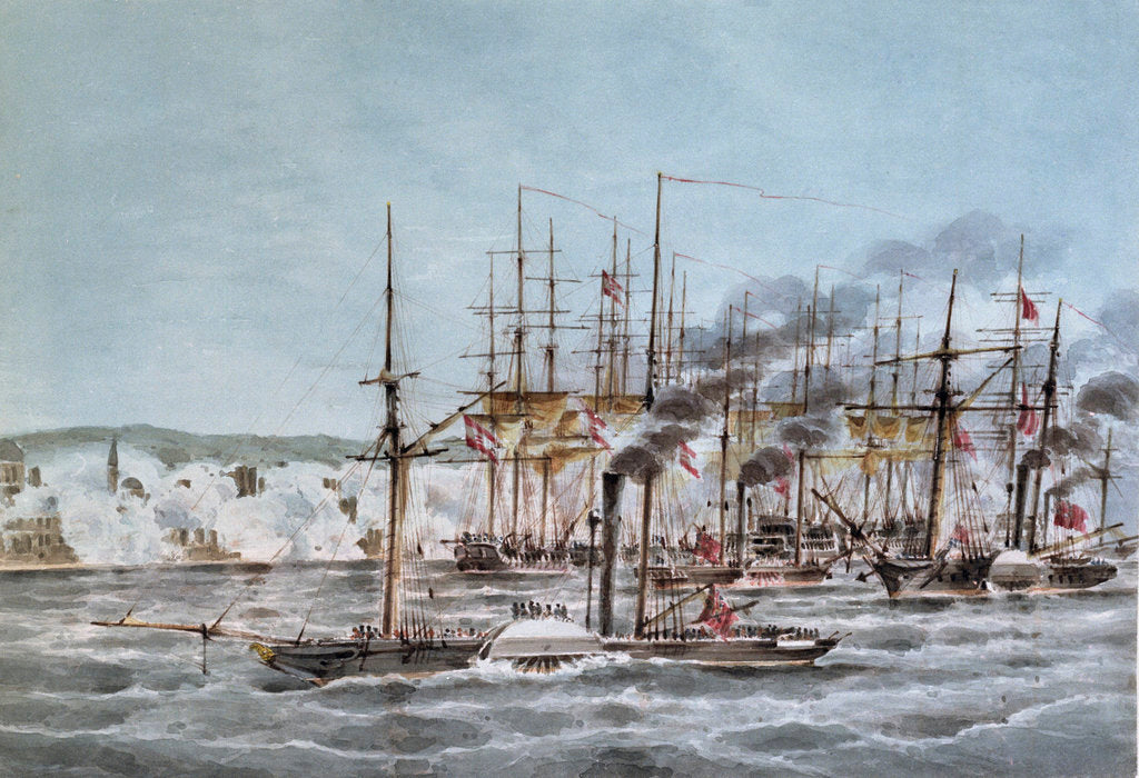 Detail of Attack and capture of St Jean D'Acre by a combined squadron under Admiral Sir Robert Stopford, 3 November 1840 by James Kennett Willson