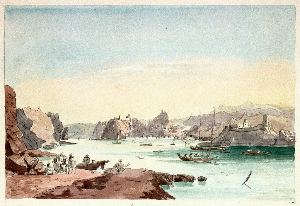 Detail of Cove of Muscat by Charles Hamilton Smith