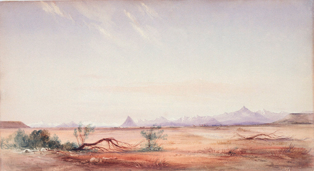 Detail of Cordillera of the Andes, as seen from the Mystery Plain, near the Santa Cruz by Conrad Martens