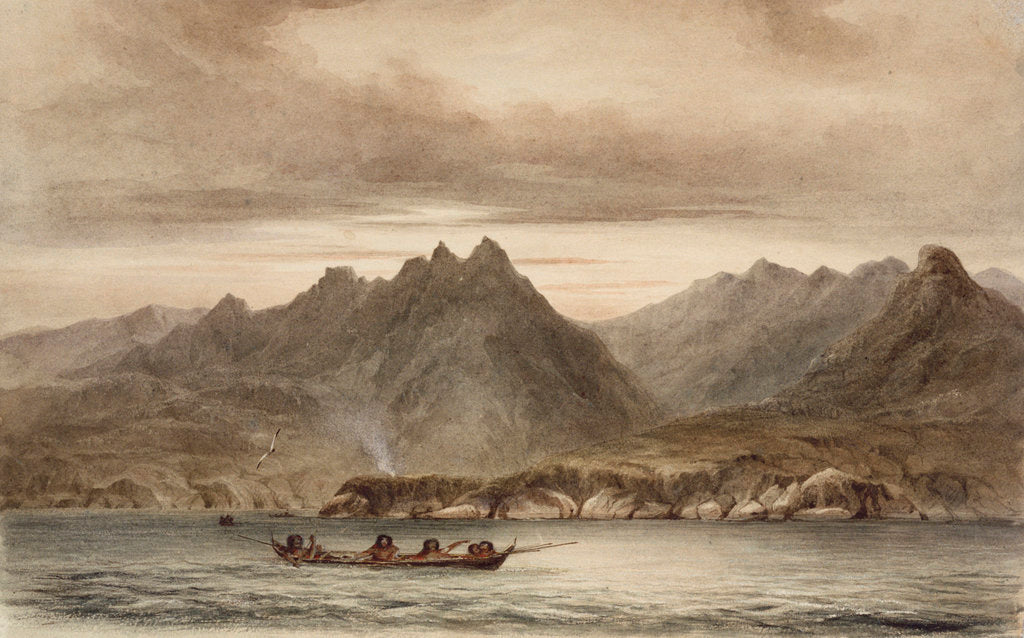 Detail of North east side of Wollaston Island near Cape Horn by Conrad Martens