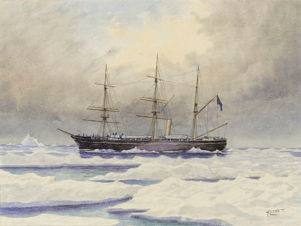 Detail of HMS 'Discovery' in the Arctic by William Cluett