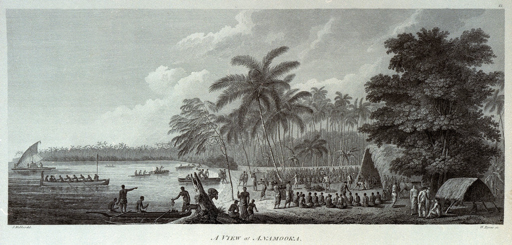 Detail of A view at Anamooka by John Webber