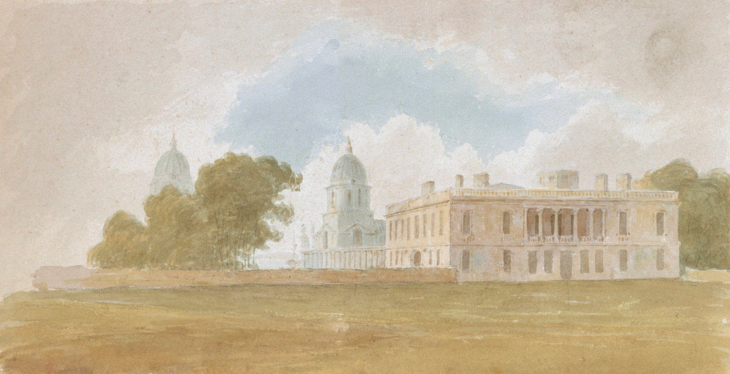 Detail of Queen's House and Greenwich Hospital by David Cox Sr