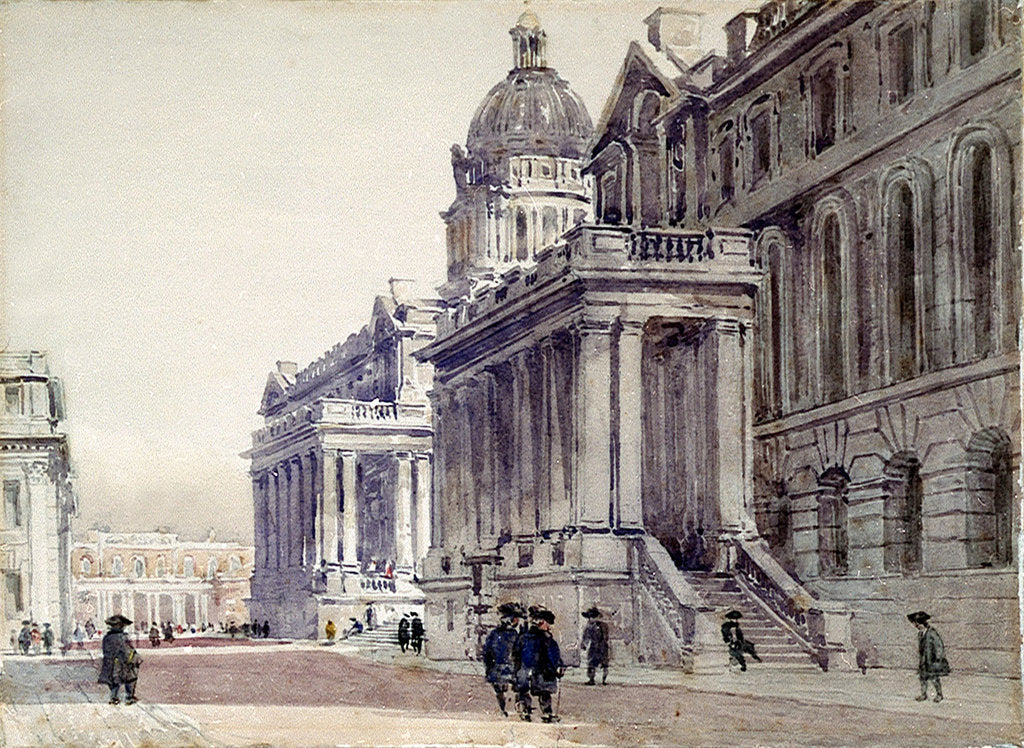 Detail of Greenwich Hospital by David Cox
