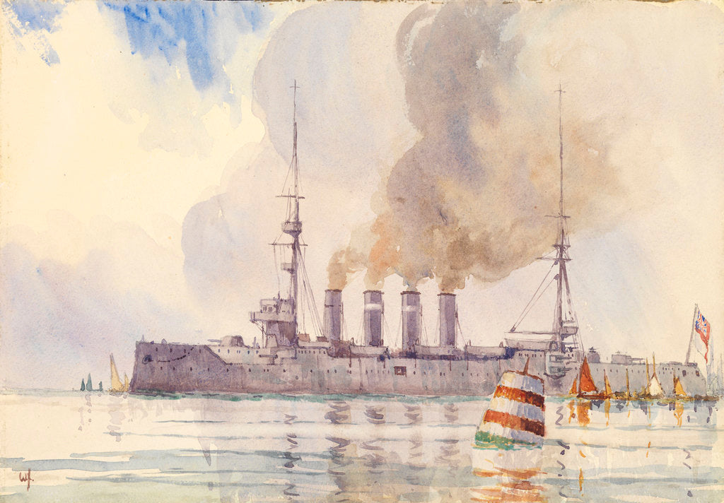 Detail of HMS 'Carnarvon' by W. H.