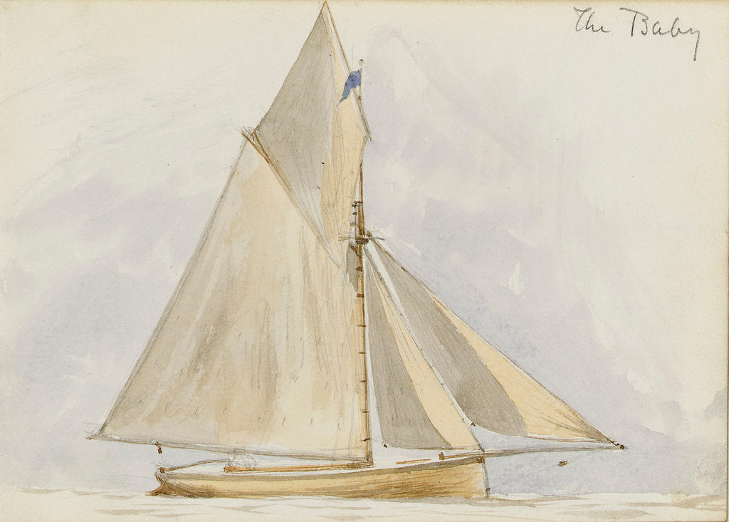 Detail of Sailing vessel 'The Baby' by John Brett