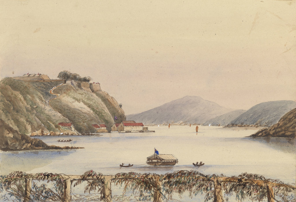 Detail of Dockyard at Trincomalee, Ceylon from the Admiralty House by Harry Edmund Edgell