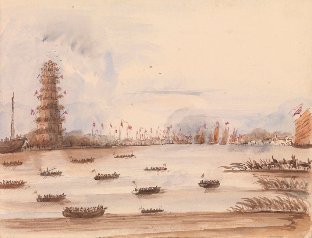 Detail of The attack on Tung Chow?, 27 May 1857 by Harry Edmund Edgell