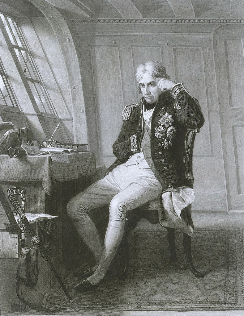 Detail of Nelson. Trafalgar 21 October 1805 by Charles Lucy