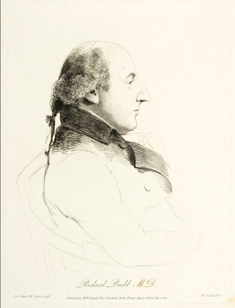 Detail of Dr. Richard Budd (1746-1821) by George Dance