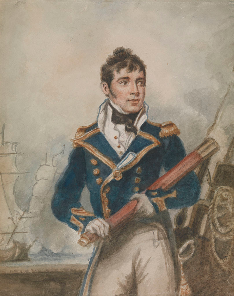 Detail of Captain Sir William Hoste (1780-1828) by unknown