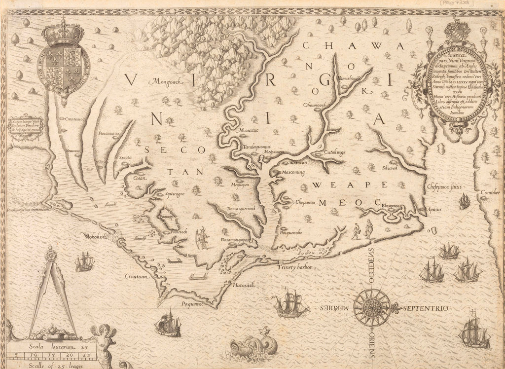 Detail of Map of Virginia by unknown