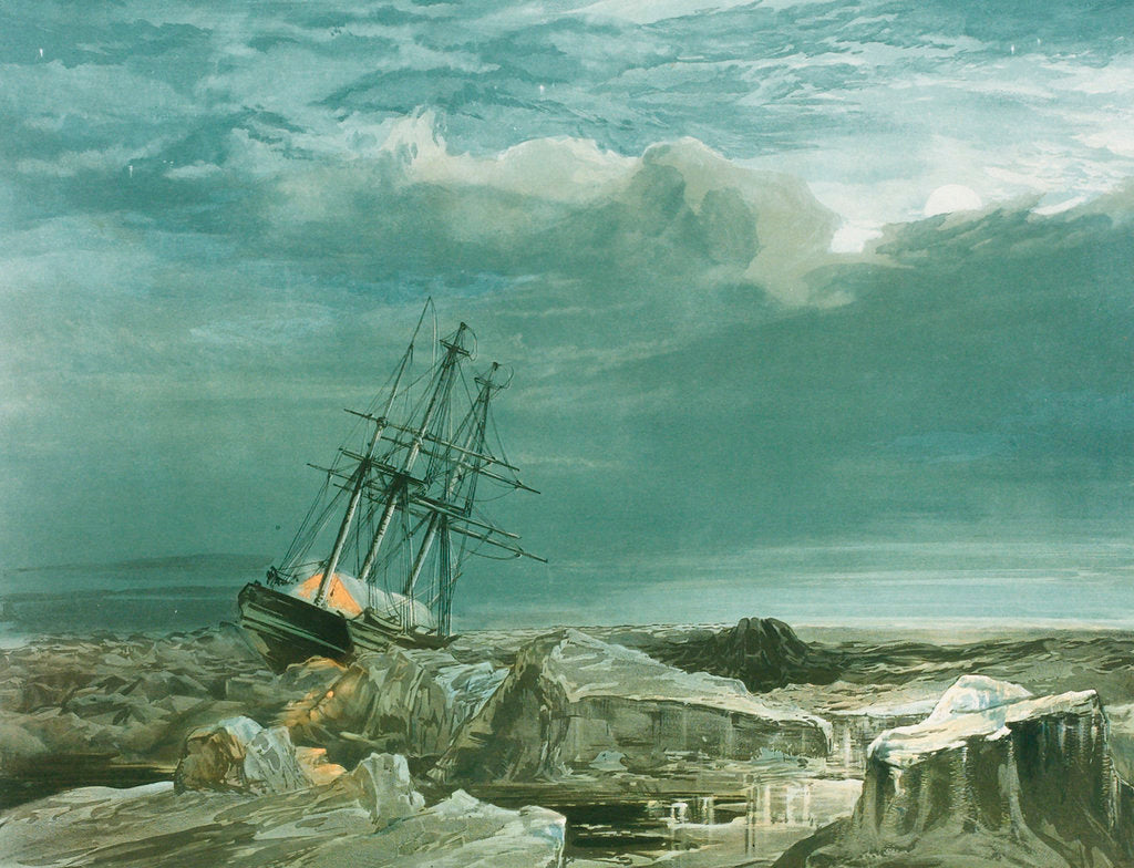 Detail of HMS 'Investigator' trapped in the ice, 8 October 1850 by S. Gurney