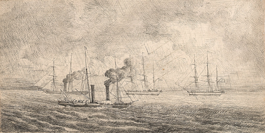 Detail of Sir John Franklin's expedition off Harwich and sketched from HMS 'Porcupine', May 1845 by unknown