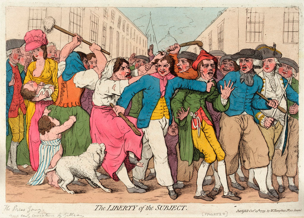 Detail of The Liberty of the Subject [the Press Gang] by James Gillray