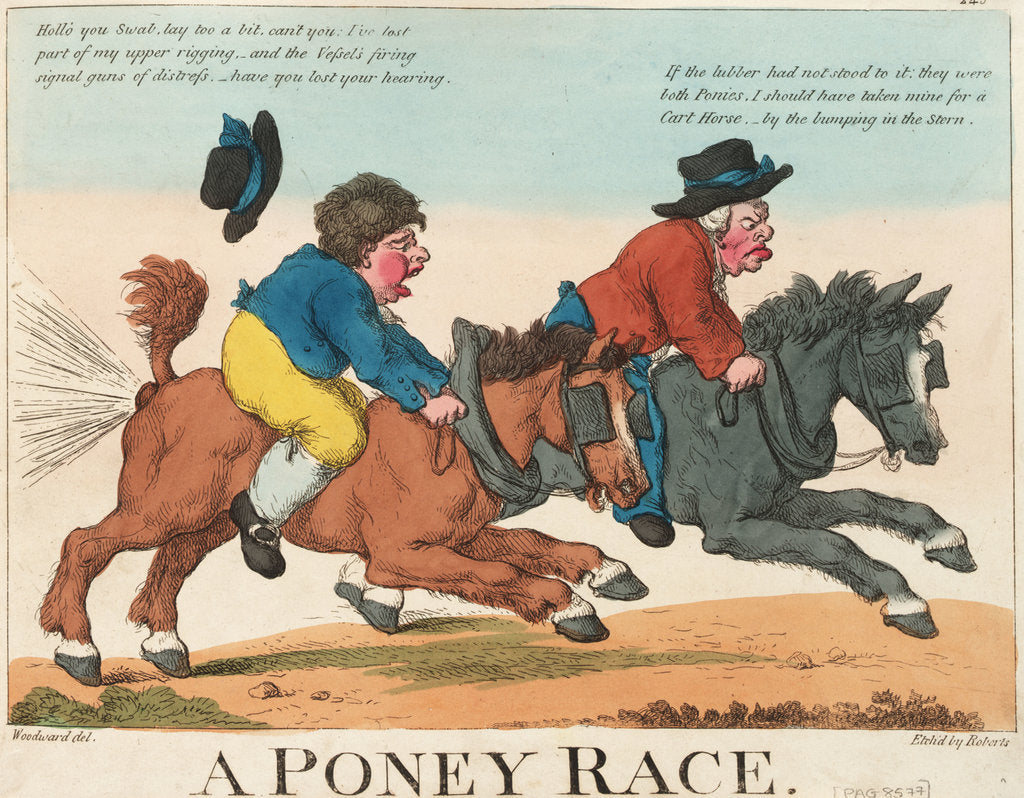 Detail of A Poney Race by George M. Woodward