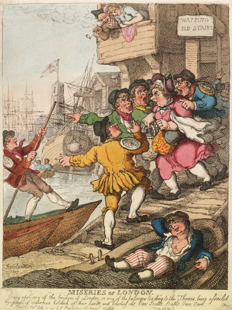Detail of Miseries of London by Thomas Rowlandson