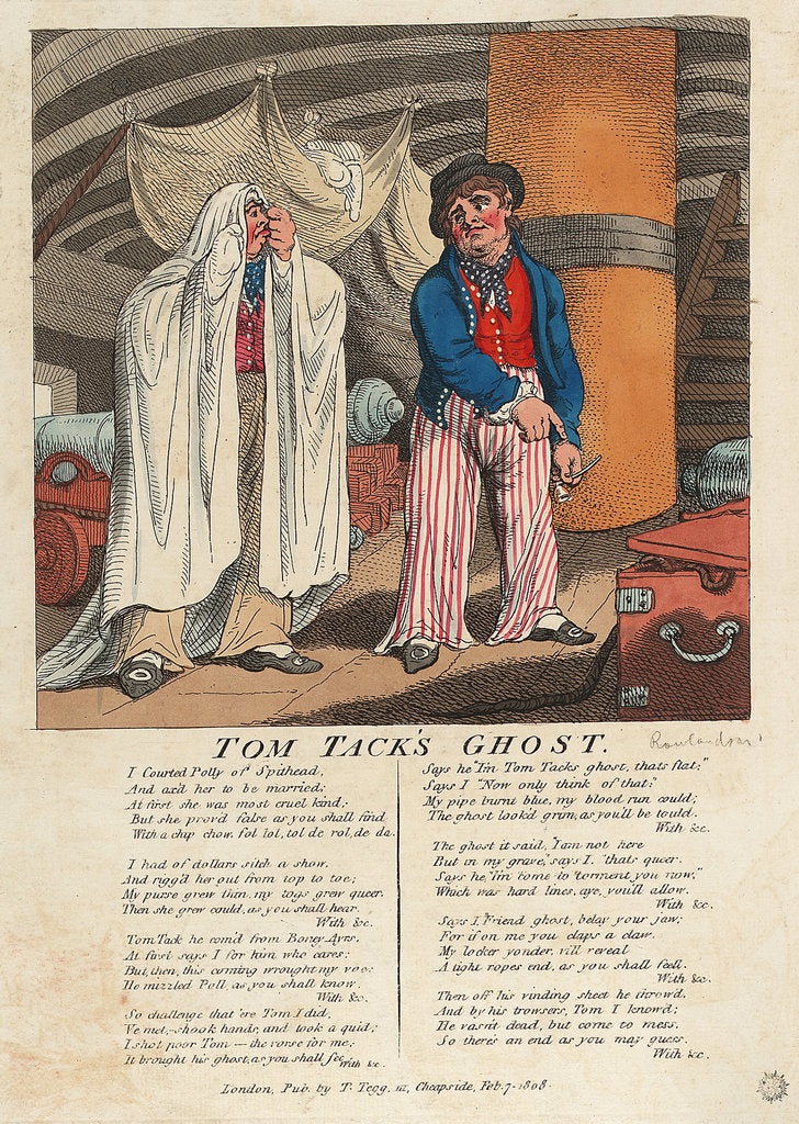 Detail of Tom Tack's Ghost by Thomas Rowlandson