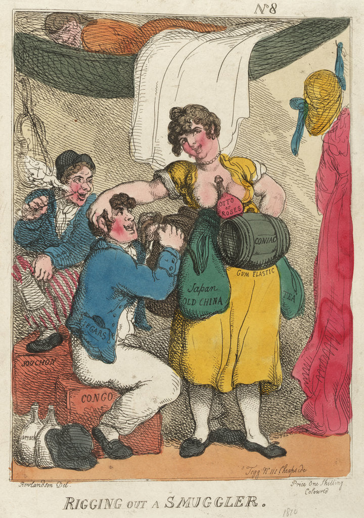 Detail of Rigging out a Smuggler by Thomas Rowlandson