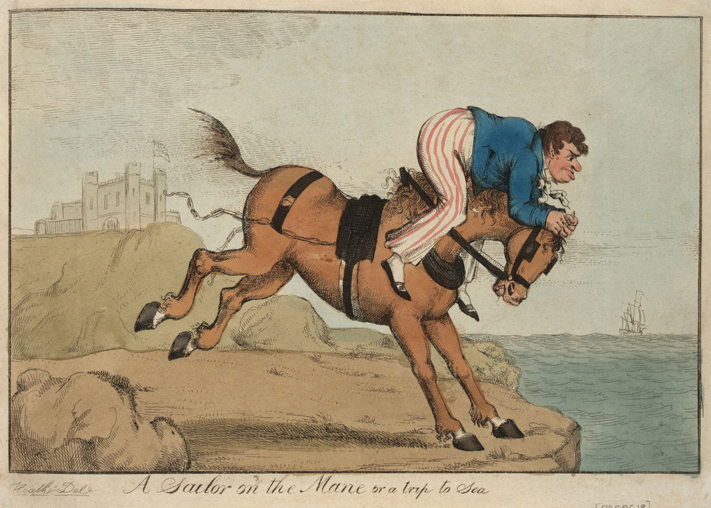 Detail of A Sailor on the Mane or a trip to Sea by William Heath