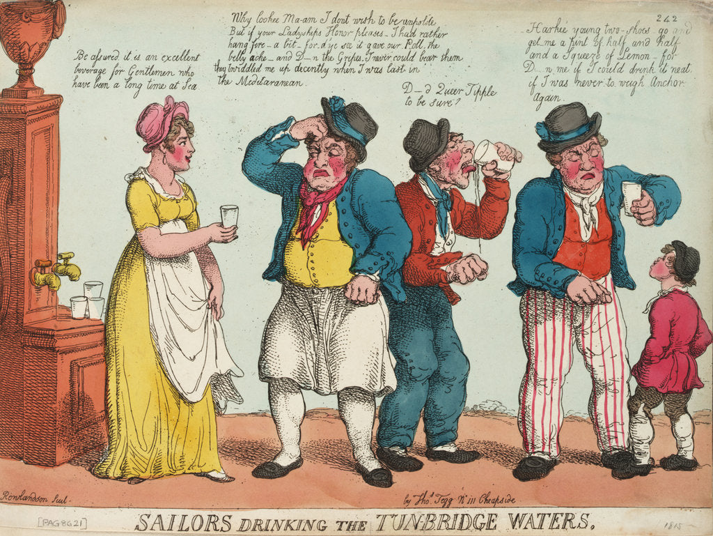 Detail of Sailors drinking the Tunbridge Waters by Thomas Rowlandson