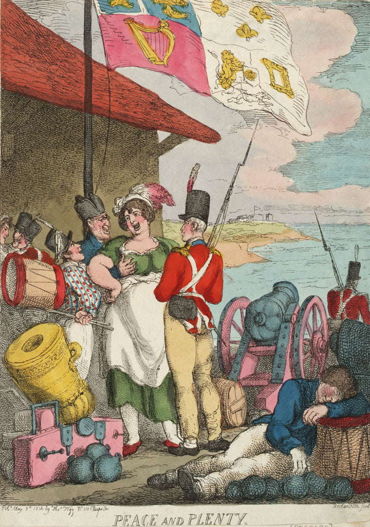 Detail of Peace and Plenty by Thomas Rowlandson