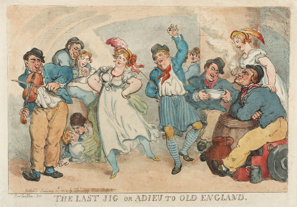Detail of The Last Jig or Adieu to Old England by Thomas Rowlandson
