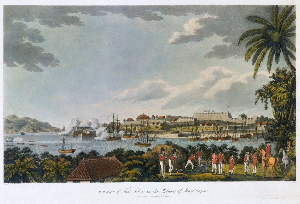 Detail of NE view of Fort Louis in the island of Martinique, 5 February - 22 March 1794 by C. Willyams