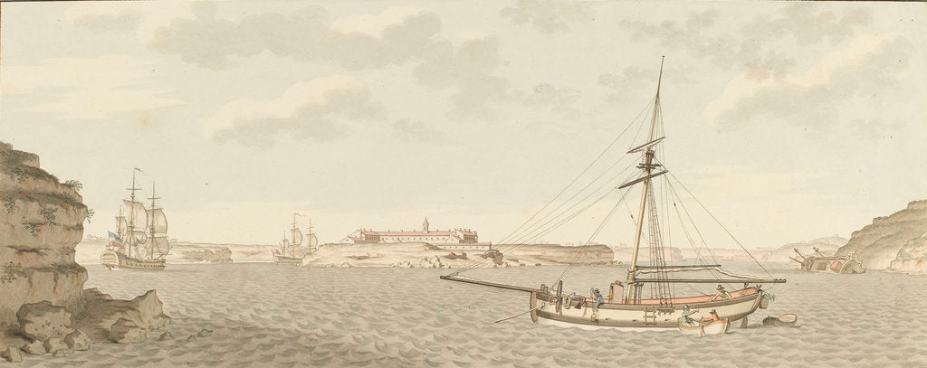 Detail of Port Mahon, & the Hospital Island by unknown