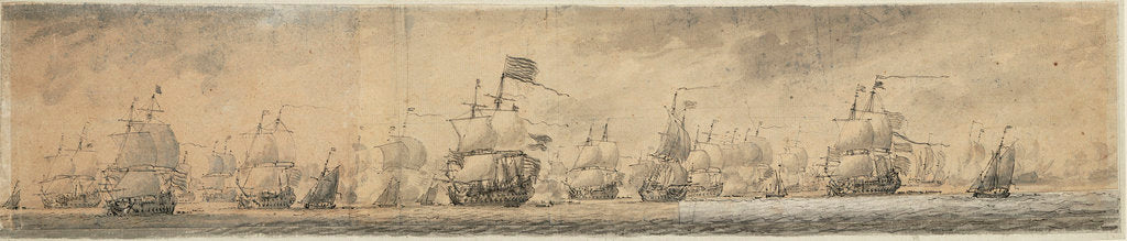 Detail of View of Dutch fleet by Willem van de Velde the Elder