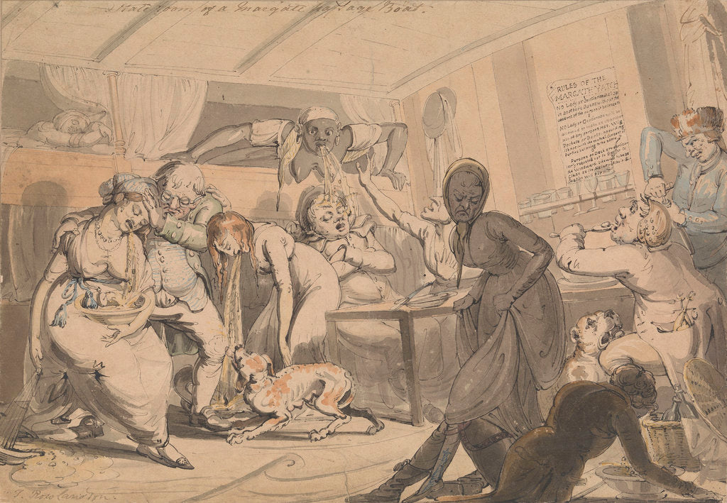 Detail of Stateroom of a Margate passage boat by Thomas Rowlandson
